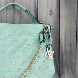 Stormy Skies Studded Tote in Mint: Alternate View #2