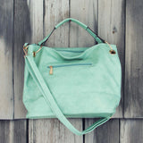 Stormy Skies Studded Tote in Mint: Alternate View #3