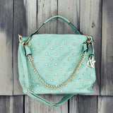 Stormy Skies Studded Tote in Mint: Alternate View #1