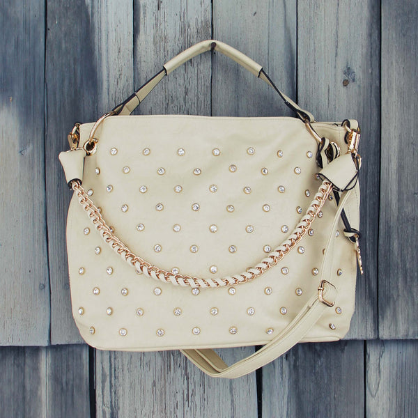 Stormy Skies Studded Tote in Sand: Featured Product Image