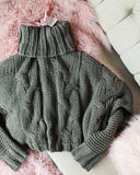 Stormy Cable Knit Sweater: Alternate View #4