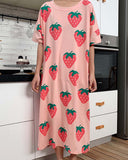 Strawberry Pajama Dress: Alternate View #3
