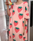 Strawberry Pajama Dress: Alternate View #1