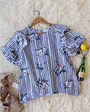 Bunches Stripe Blouse: Alternate View #1