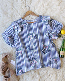 Bunches Stripe Blouse: Alternate View #4