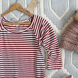 The Striped Babe Tee in Plum: Alternate View #2