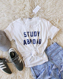 Mother Denim Brand Study Abroad Tee: Alternate View #1