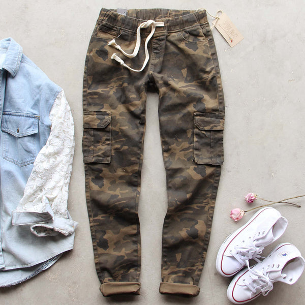 Sugar Falls Cargo Pants in Camo: Featured Product Image