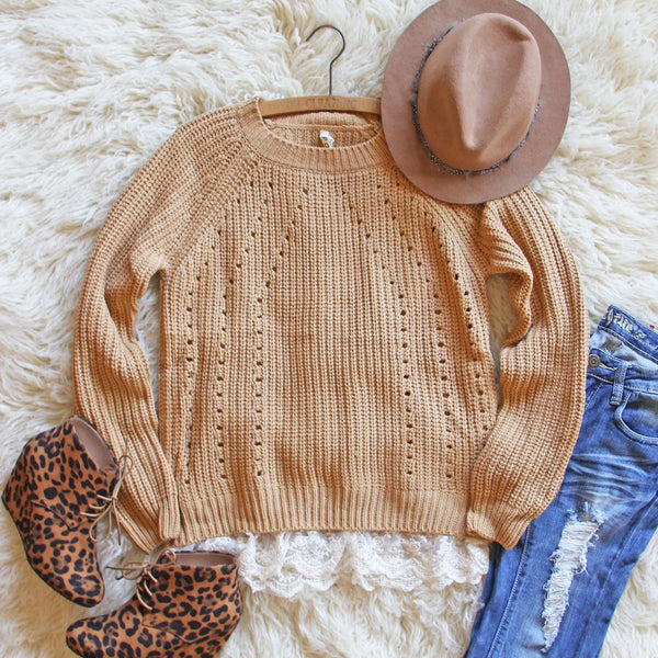 The Sugar Pine Lace Sweater: Featured Product Image