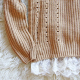 The Sugar Pine Lace Sweater: Alternate View #3
