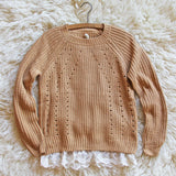 The Sugar Pine Lace Sweater: Alternate View #2