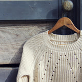 The Sugar Pine Lace Sweater in Cream: Alternate View #2