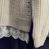The Sugar Pine Lace Sweater in Cream: Alternate View #3