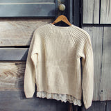 The Sugar Pine Lace Sweater in Cream: Alternate View #4