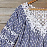 Sugared Breeze Blouse in Midnight Ikat: Alternate View #2