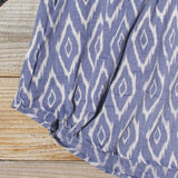 Sugared Breeze Blouse in Midnight Ikat: Alternate View #3