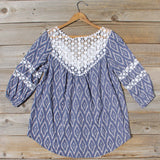 Sugared Breeze Blouse in Midnight Ikat: Alternate View #4