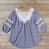Sugared Breeze Blouse in Midnight Ikat: Alternate View #1