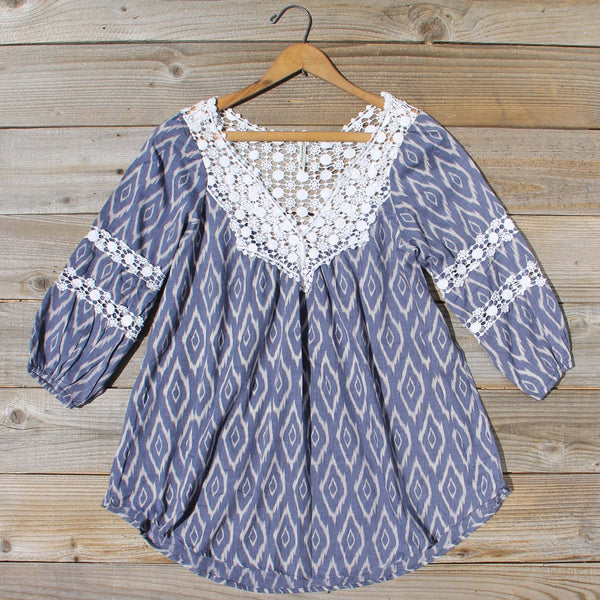 Sugared Breeze Blouse in Midnight Ikat: Featured Product Image