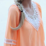 Sugared Breeze Blouse in Peach: Alternate View #2