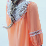 Sugared Breeze Blouse in Peach: Alternate View #3