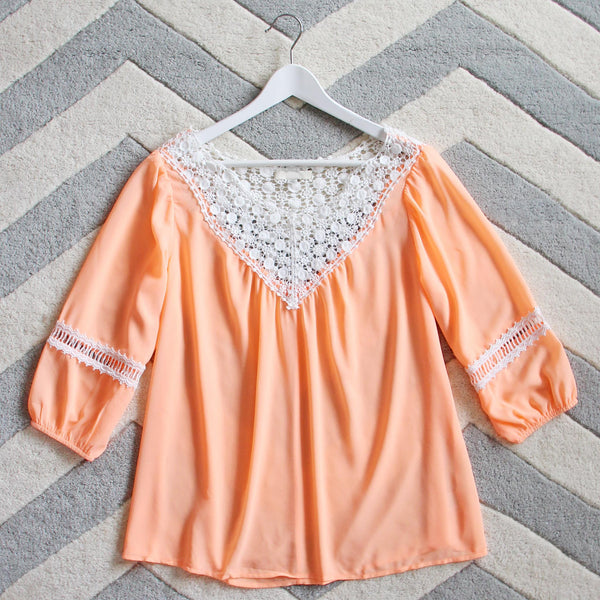Sugared Breeze Blouse in Peach: Featured Product Image