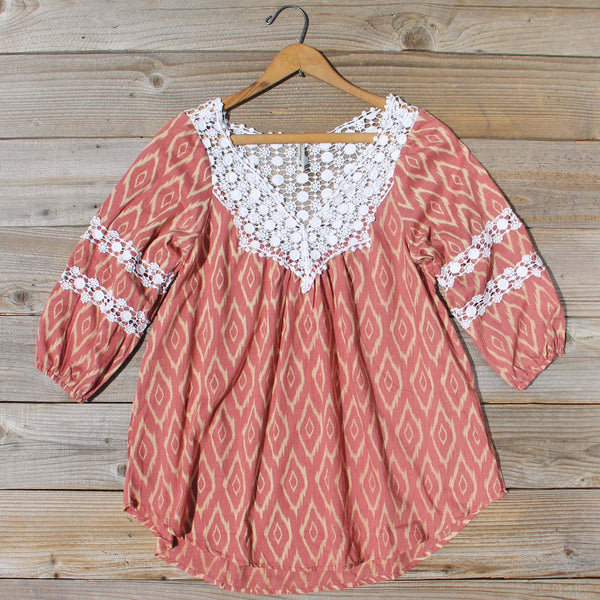 Sugared Breeze Blouse in Desert Ikat: Featured Product Image