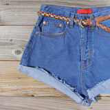 Summer Nights Cuffed Jean Shorts: Alternate View #2