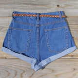 Summer Nights Cuffed Jean Shorts: Alternate View #3
