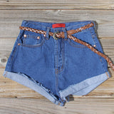 Summer Nights Cuffed Jean Shorts: Alternate View #1