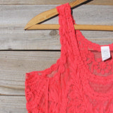 Summer Snow Lace Tank in Watermelon: Alternate View #2