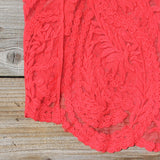 Summer Snow Lace Tank in Watermelon: Alternate View #3