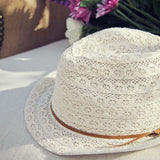 Sun Goddess Lace Fedora: Alternate View #2