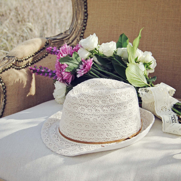 Sun Goddess Lace Fedora: Featured Product Image
