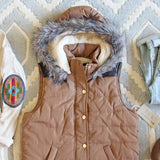 Suncadia Hooded Vest in Camel: Alternate View #2