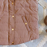 Suncadia Hooded Vest in Camel: Alternate View #3