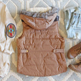 Suncadia Hooded Vest in Camel: Alternate View #4