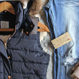 Suncadia Hooded Vest in Navy: Alternate View #2