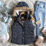 Suncadia Hooded Vest in Navy: Alternate View #1