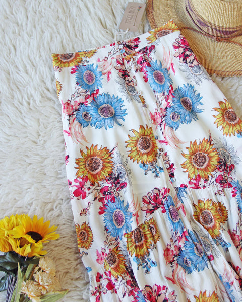 772963a1d303 Sunflower Maxi Skirt, Sweet Boho Maxi Skirts from Spool 72. | Spool No.72