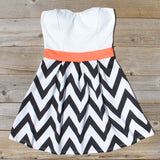 Sunset Chevron Dress: Alternate View #1