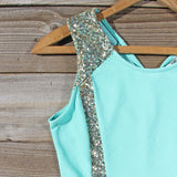 Sunset Stars Dress in Mint: Alternate View #2