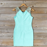 Sunset Stars Dress in Mint: Alternate View #4