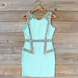 Sunset Stars Dress in Mint: Alternate View #1