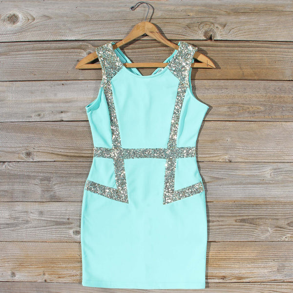 Sunset Stars Dress in Mint: Featured Product Image