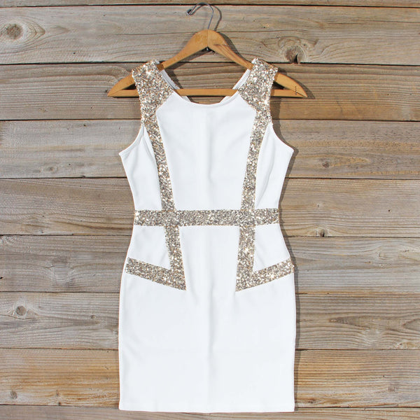 Sunset Stars Dress in White: Featured Product Image
