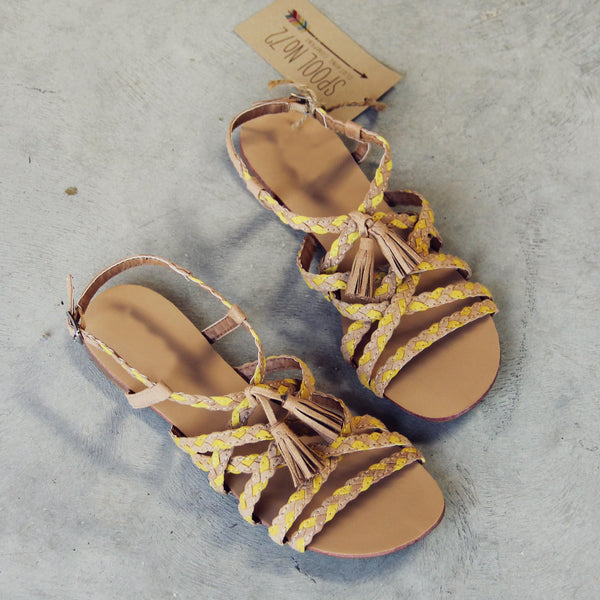 Sunstone Braided Sandals: Featured Product Image