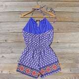 Sunstone Romper in Blue: Alternate View #4