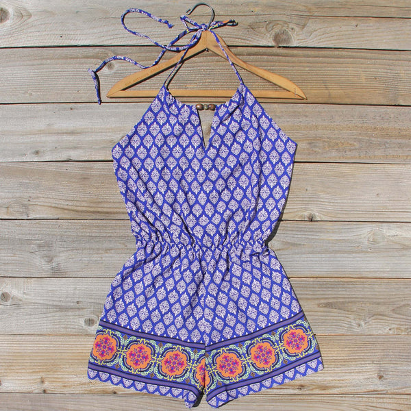 Sunstone Romper in Blue: Featured Product Image