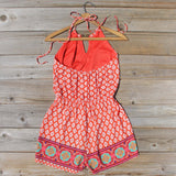 Sunstone Romper in Red: Alternate View #4
